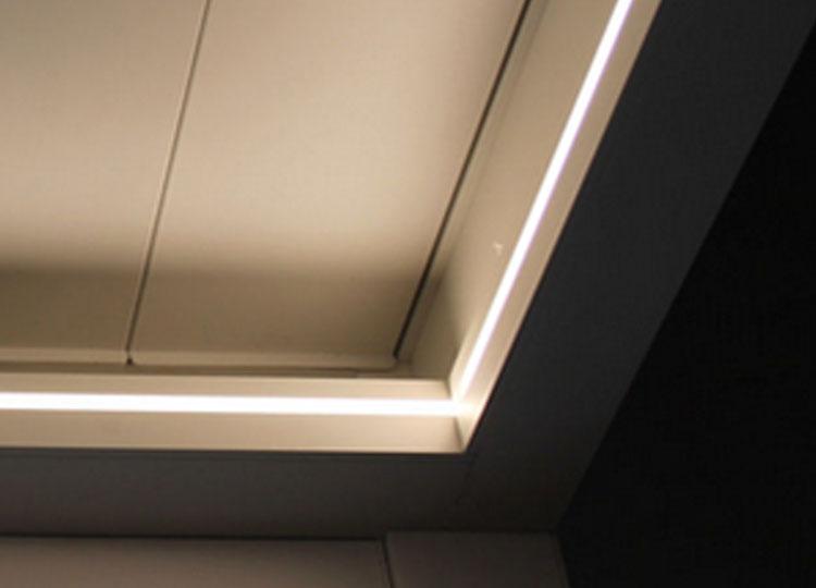 Oświetlenie pergoli - listwa